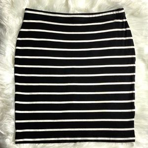 ASOS | Black & White Striped Skirt